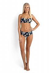 Seafolly Cabana Rose Ruched Side Ret