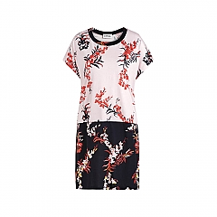 Dress short sleeve orchid