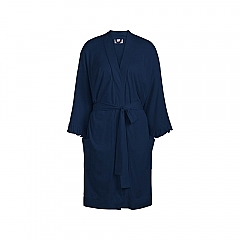 Bathrobe Long sleeve Solids Navy