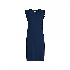 Dress Sleeveless Solids Navy
