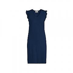 Dress Sleeveless Solids Navy